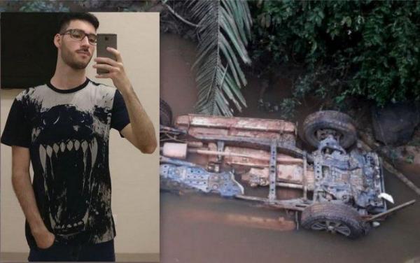 Jovem de 19 anos perde a vida ao cair com veículo em rio de propriedade rural em Rondonia