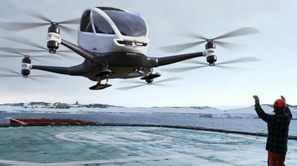 Ehang 184: 'drone táxi' autônomo faz primeiros testes com passageiros